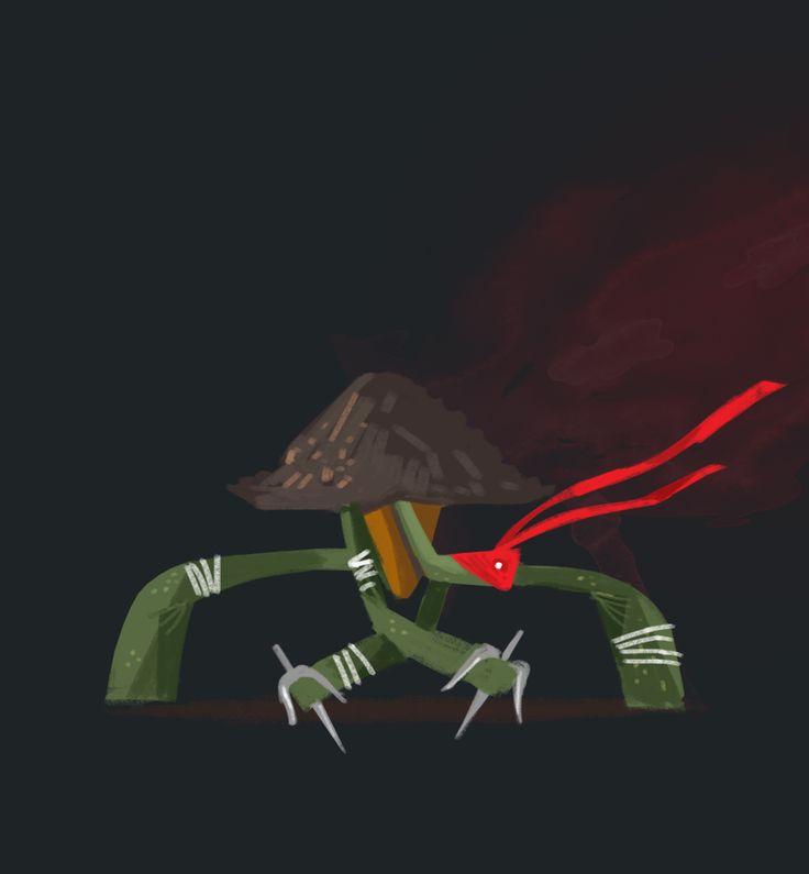 TMNT #raphael #characterdesign #illustration #childrenillustration #tmnt #turtle #redesign #ninja