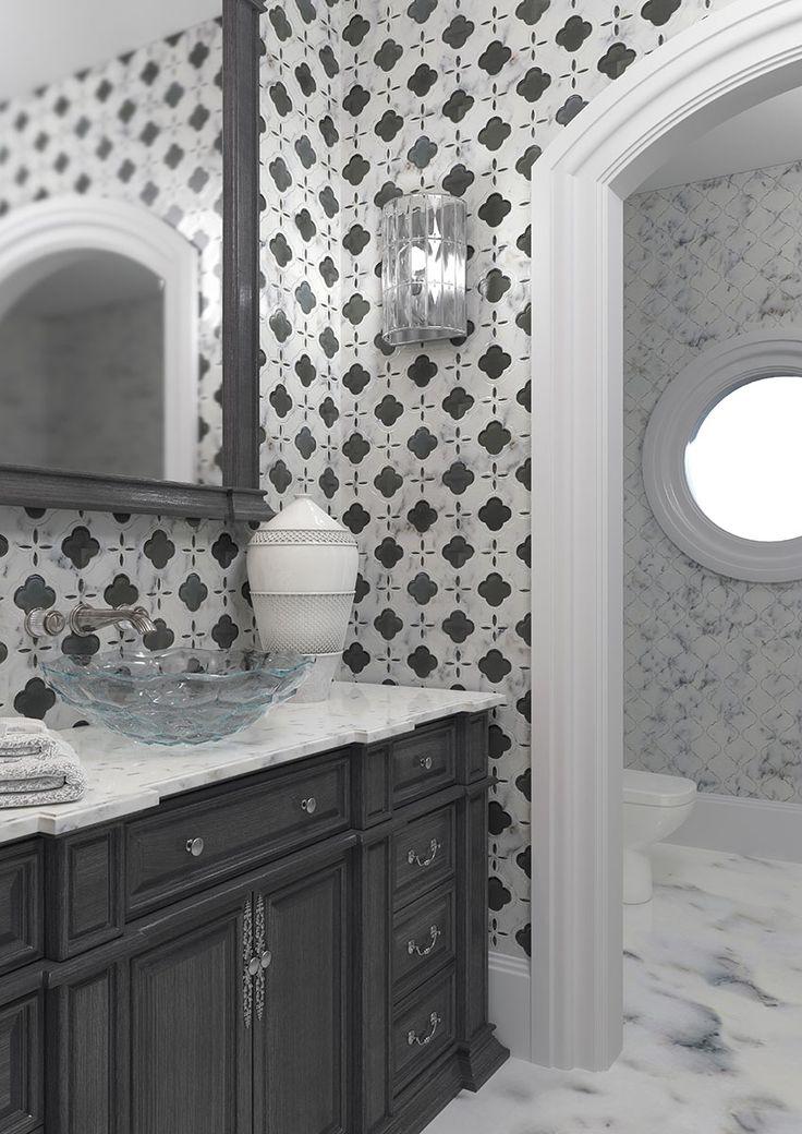 Fiore Trellis #mir-mosaic #mosaic #walltiles #blackwhite #interiordesign #interiorstyling #bathroominspiration