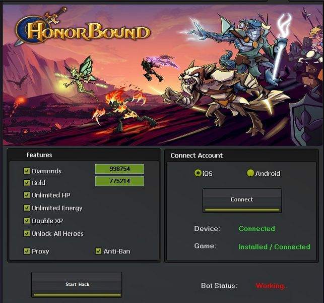 With this hack for Honorbound you can create boundless: jewels, gold, hp vitality and xp! There is likewise the choice to open all legends! What's more, if that isn't sufficient, with our security and insurance …