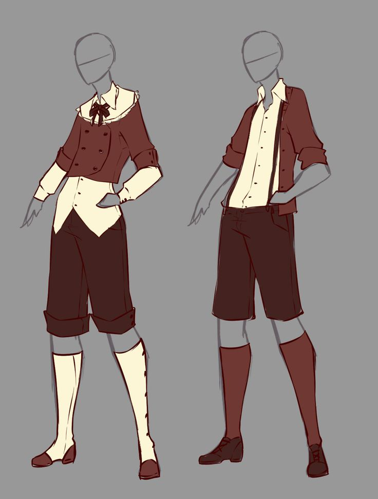 anime male clothes - 736×971