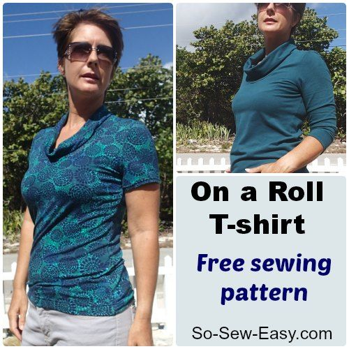 On a Roll T-shirt - free sewing pattern