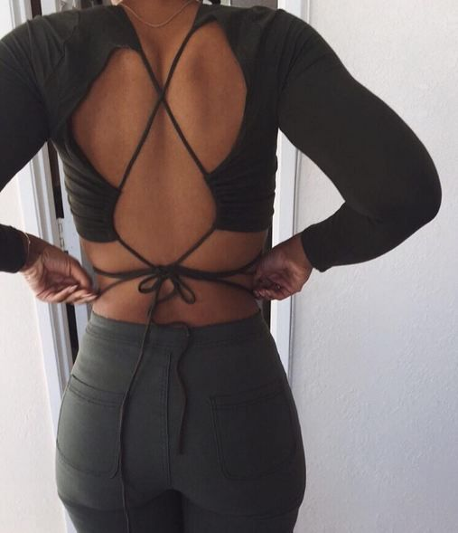 // Pinterest @esib123 //  #style #inspo #fashion  open back top