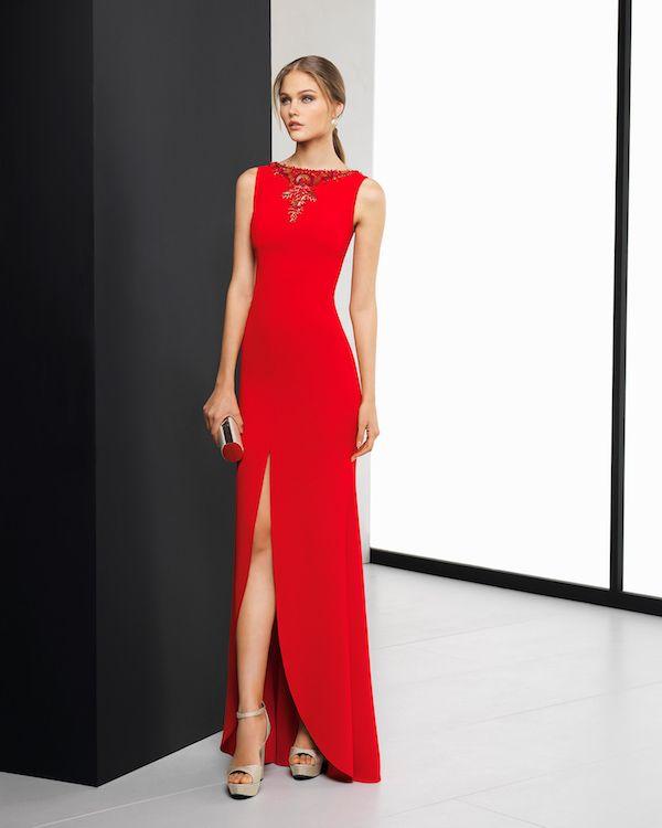 Vestidos de noche rojos 2019