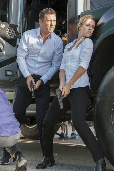 Michael Westen (Jeffrey Donovan) and Sonya Lebedenko ...