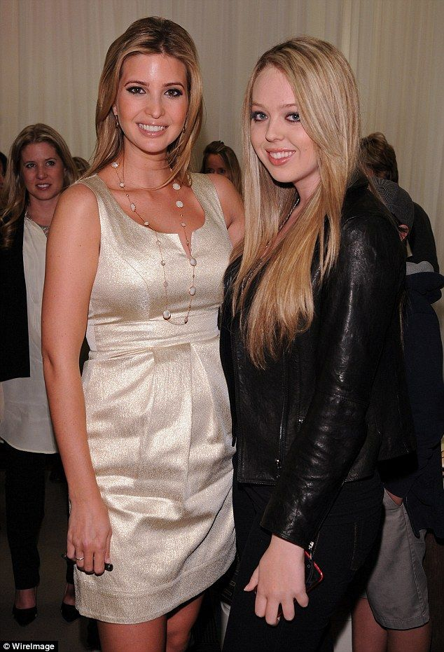 Spot the difference: Ivanka (L) and Tiffany (R), pictured at an event in February 2011, bo...