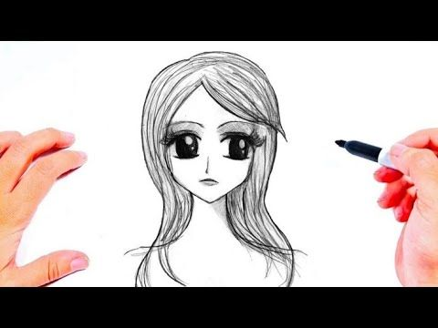 رسم بنات سهلة وكيوت رسم فتاة جميلة رسومات بنات سهله وبسيطة رسم سهل جدا Youtube