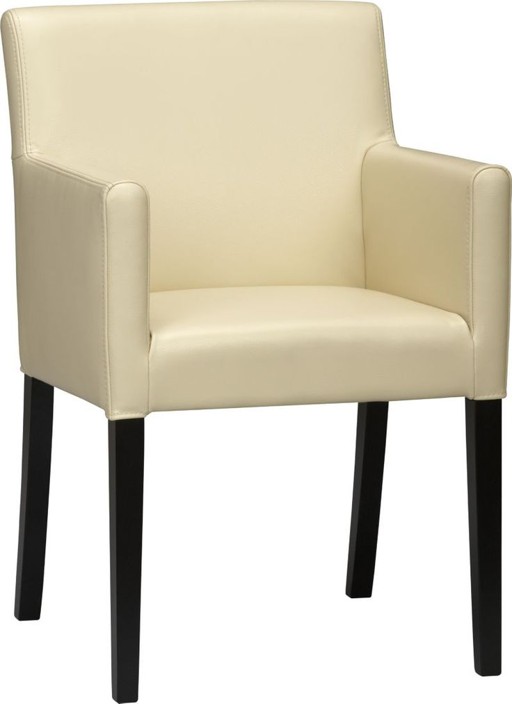 Lowe Ivory Leather Arm Chair in Dining, Kitchen Chairs | Crate and Barrel