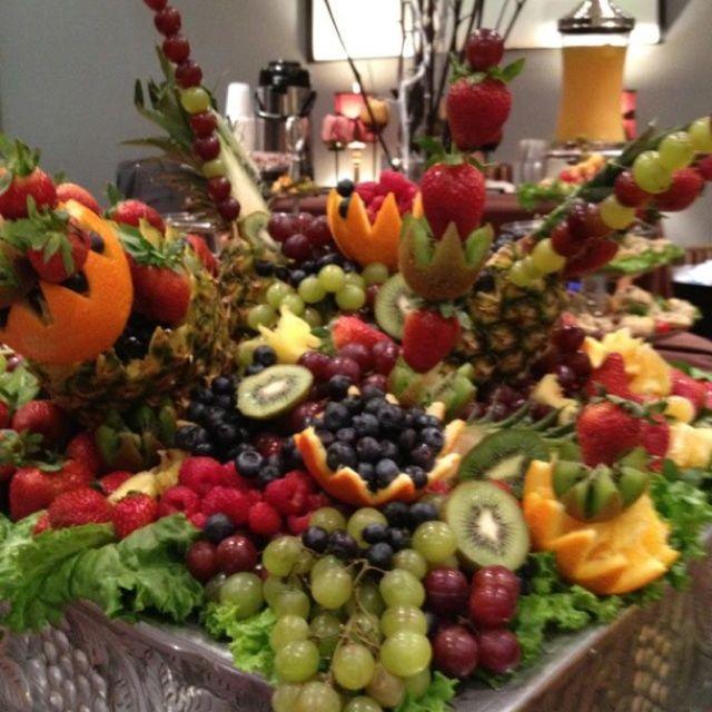 Wedding Reception Food Display: Gorgeous Elegant Fruit Display!