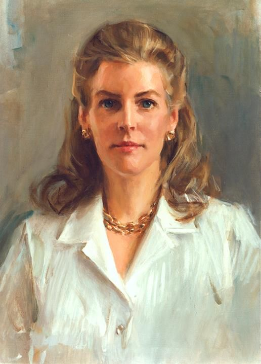Beautiful oil portrait of a woman by a renowned Portraits, Inc. artist
