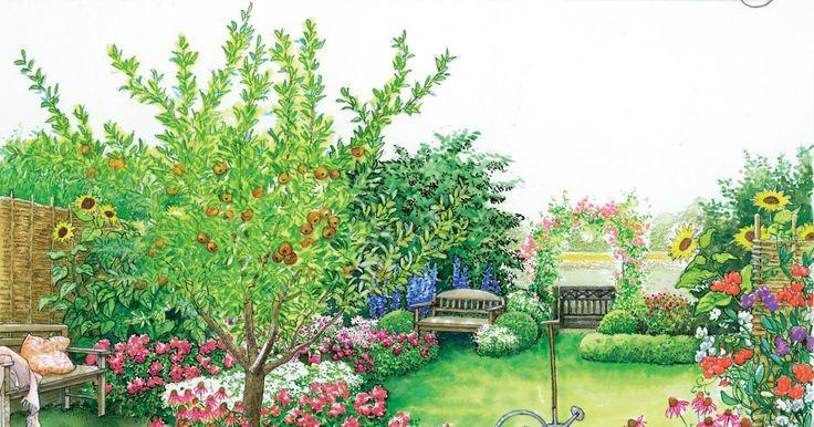 Rasen, Zaun und Gartenhaus – mehr hat das Grundstück nicht zu bieten. Mit zwei verschiedenen Gestaltungsideen zum Nachpflanzen zeigen wir Ihnen, wie aus einer  schnöden Fläche ein Traumgarten wird.