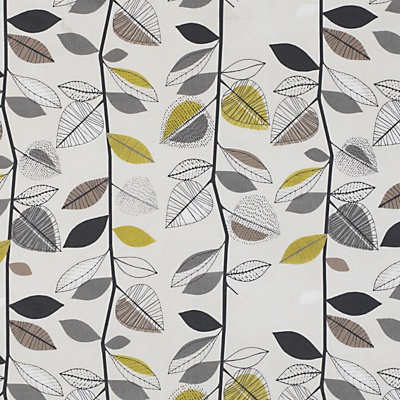 Buy John Lewis Autumn Leaves Fabric, Sulphur online at JohnLewis.com - John Lewis £16
