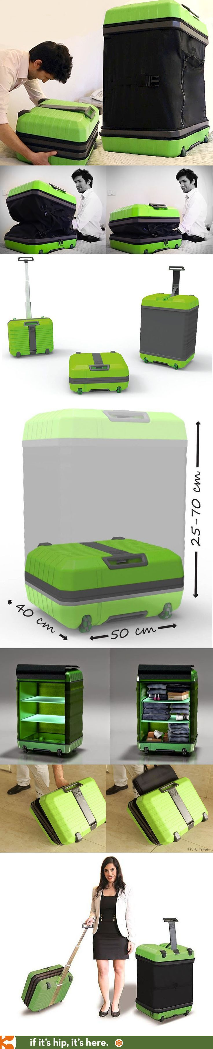 FUGU - revolutionary expanding luggage that goes from a carry-on into a check-in...