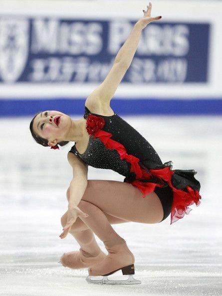 Kanako Murakami -  Black Figure Skating / Ice Skating dress inspiration for Sk8 Gr8 Designs.
