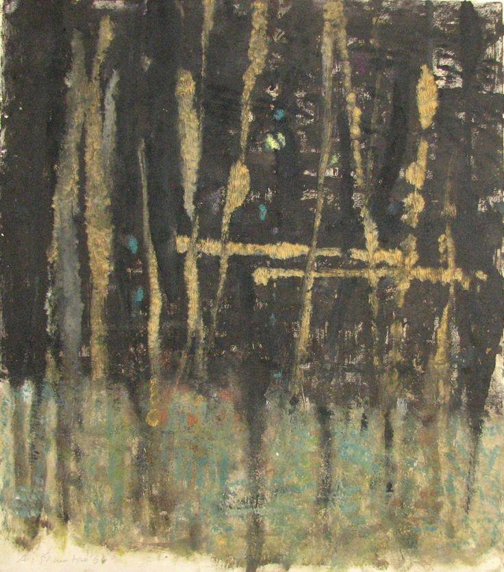 Adriena Šimotová (1926 - 2014) více o autorovi Tajemství lesa komb. technika , 1964, 30 x 26,8 cm, sign. LD A. Šimotová 64, rámováno.Dílo pochází z pozůstalosti ak. Jiřího Kotalíka (1920-1976) Číslo položky:139Poslední dražitel:34 Vyvolávací cena:45000 KčProdáno za:76000 Kč (1024×1163)