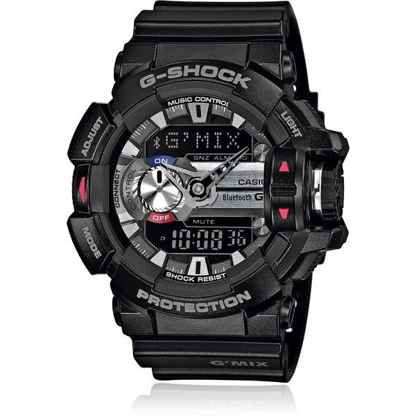 G-shock Men G'mix Smartphone Digital Watch (16,480 INR) ❤ liked on Polyvore featuring men's fashion, men's jewelry, men's watches, black, g shock mens watches, mens watches, mens watches jewelry and mens digital watch