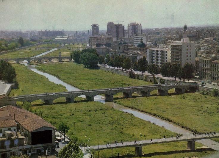 Cauce Rio Turia al paso por Valencia (Epaña) Finales años 70.
