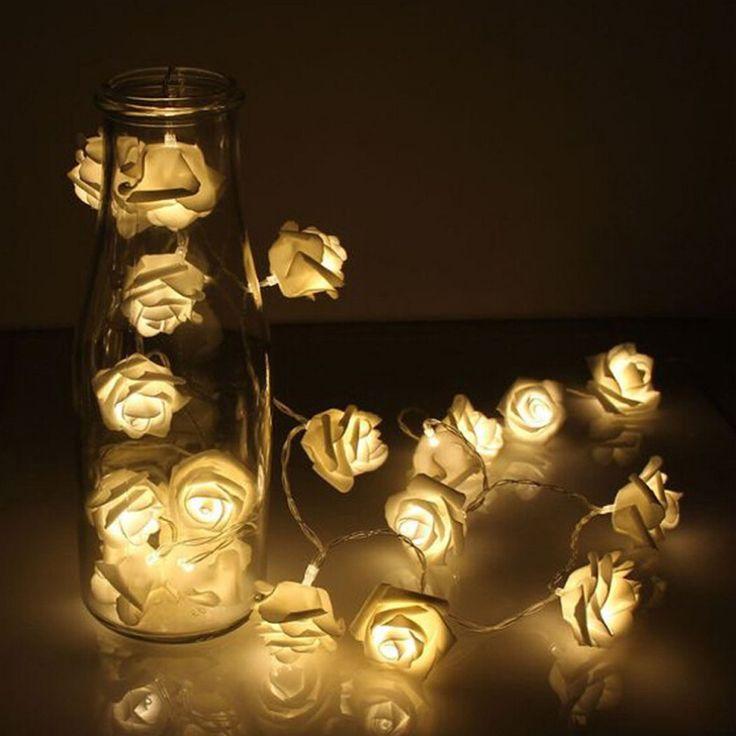 Outdoor String Lights, Bangcool 20 LED String Lights Rose Shape String Lights for Bedroom Wedding Party Home Garden