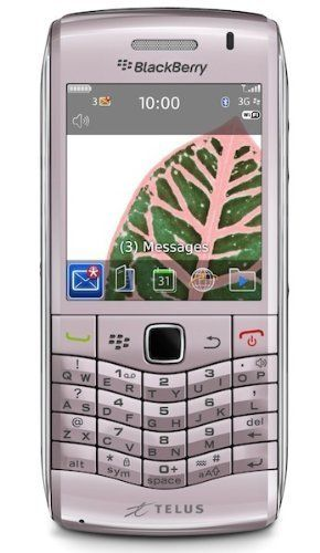 Blackberry Pearl 9100 Unlocked GSM Phone with 3G, QWERTY Keyboard, Touch-Sensitive Optical Trackpad, 3.2MP Camera, GPS, Wi-Fi, Bluetooth, MP3/MP4 Player and microSD Slot - Pink