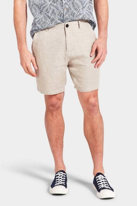 The Academy Brand - Marco Linen Short - Oatmeal