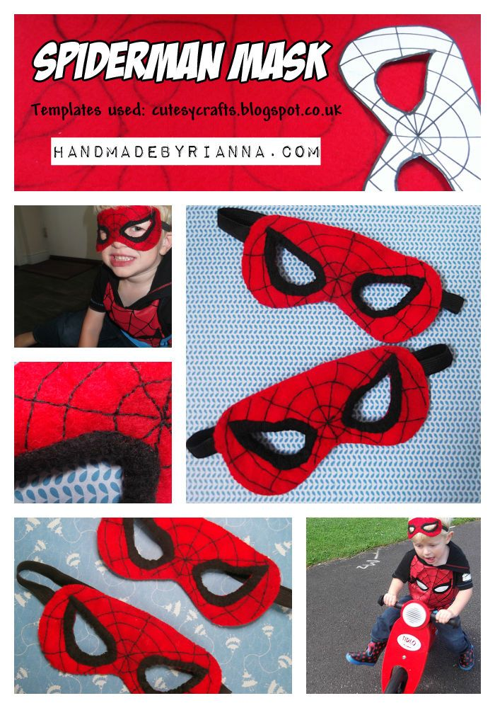 DIY Spiderman Masks spiderman halloween halloween crafts halloween diy halloween costumes halloween costumes for kids