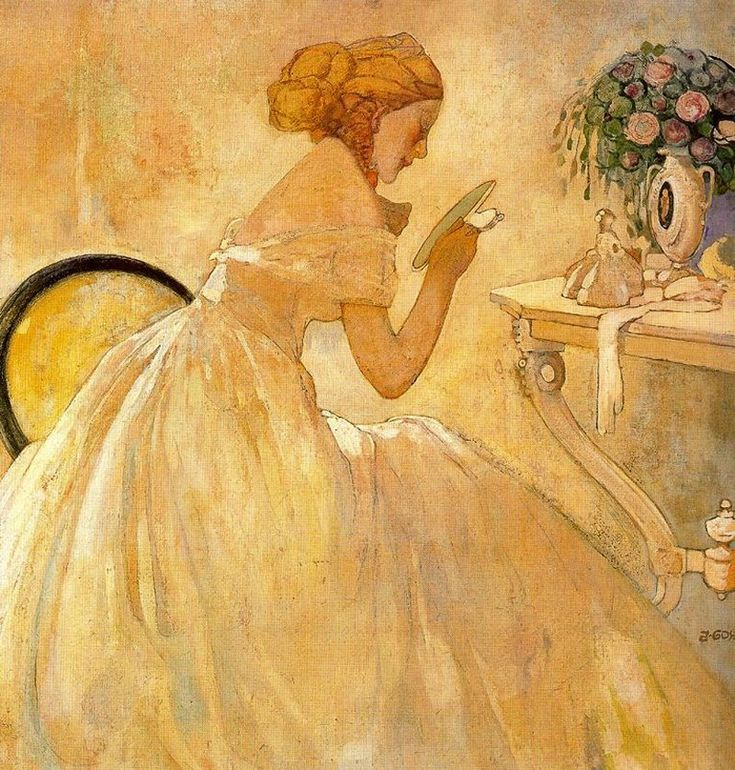 Mujer en el tocador (1904) Xavier Gosé