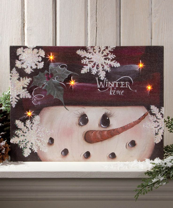 Another great find on #zulily! 'Winter Time' Light-Up Canvas by Ohio Wholesale, Inc. #zulilyfinds