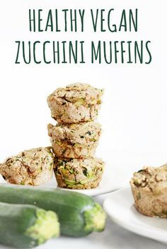 These Healthy Vegan Zucchini Muffins are a healthier version on a comforting treat | the INSPIRED home