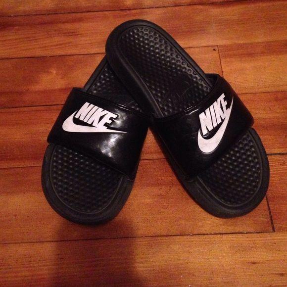 Nike slides Black and white nike slides Nike Shoes