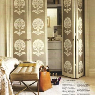 Creative Ideas For Closet Doors wallpapered closet doors looking for creating big impact with little money try wallpapering your closet Wallpapered Closet Doors Looking For Creating Big Impact With Little Money Try Wallpapering Your Closet