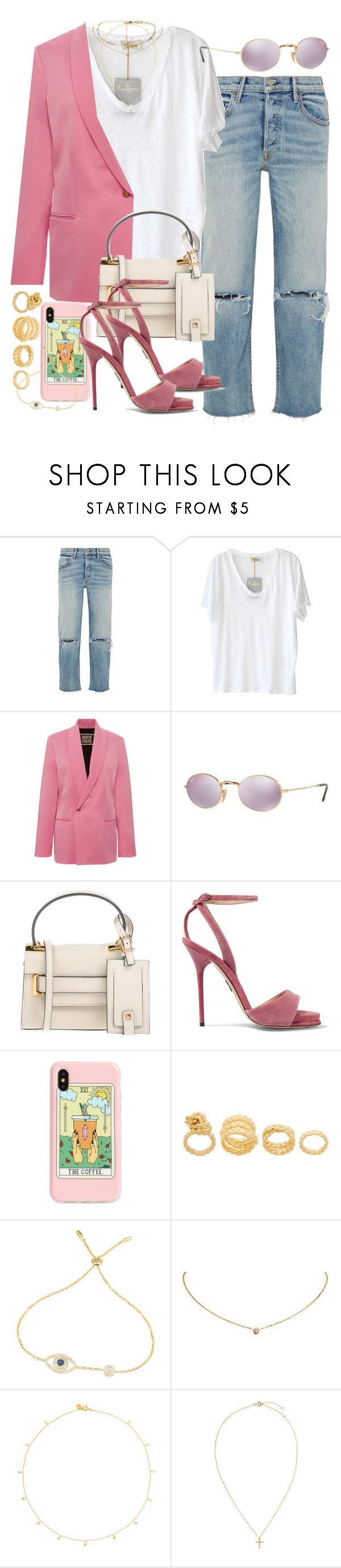 """""""Sin título #4629"""" by hellomissapple ❤ liked on Polyvore featuring GRLFRND, American Vintage, FAUSTO PUGLISI, Ray-Ban, Valentino, Paul Andrew, Recover, Maison Margiela, Cartier and Scosha"""