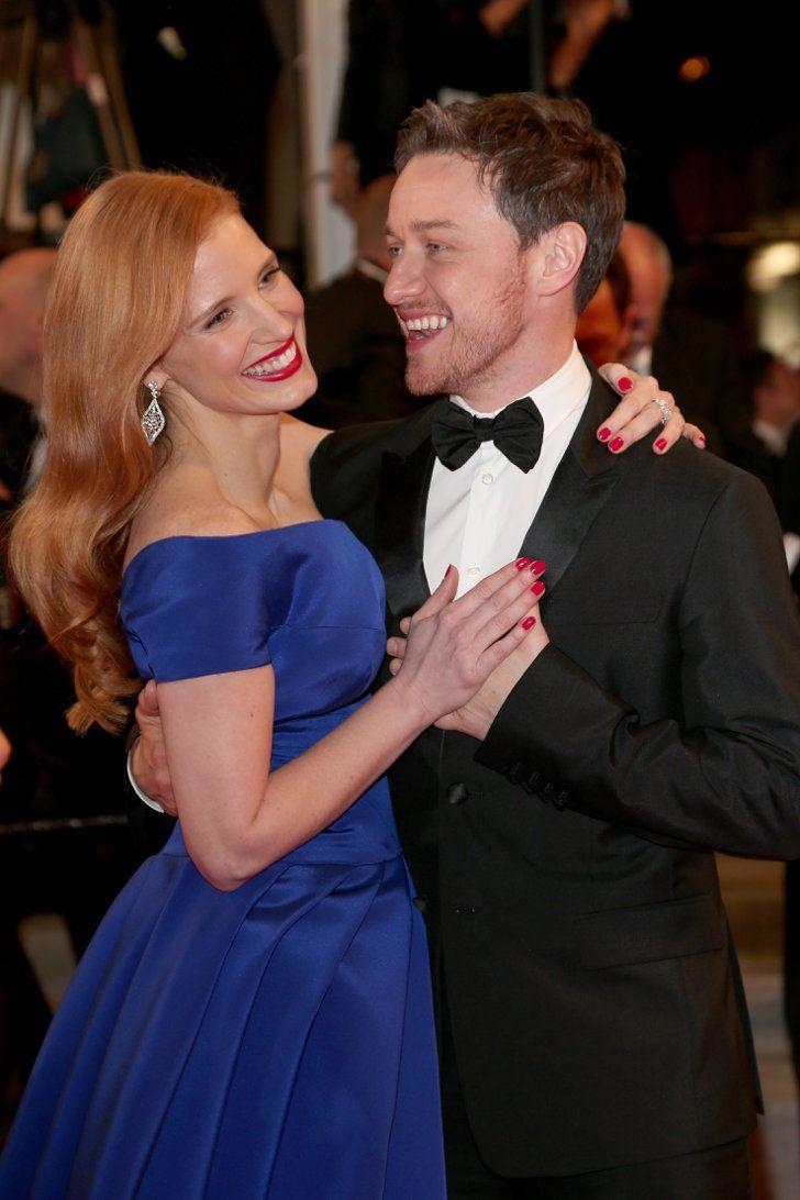 Pin for Later: Le glamour est au rendez-vous au festival de Cannes ! Jessica Chastain a dansé avec James McAvoy sur le tapis rouge de The Disappearance of Eleanor Rigby, dimanche.