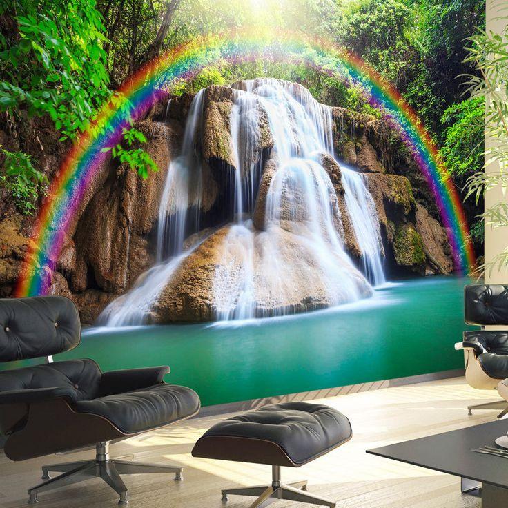 Wallpaper #rainbow #art #landscape #decoration #wall