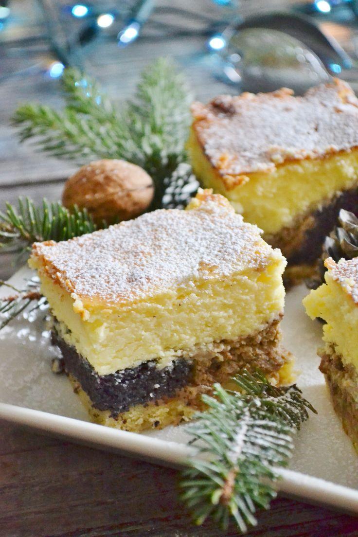 Świetne połączenie maku, sera oraz orzechów! Ciasto jest troszkę pracochłonne…