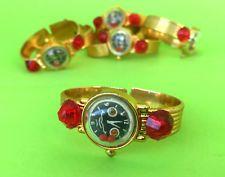 1x Vintage Greek Plastic APERGIS Gold Color Bracelet Watch Jem Toy Puzzle Rare