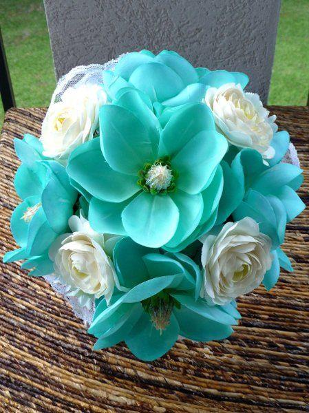 Roses  yellow blue coral centerpices | Altar/Arch Arrangements Bouquet Boutonniere Centerpiece Centerpieces ...