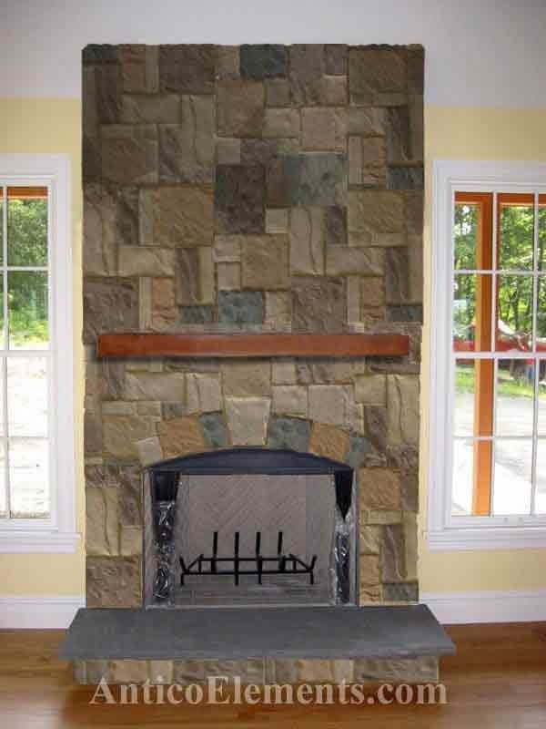 Fireplaces Stone best 25+ faux stone fireplaces ideas on pinterest | rustic