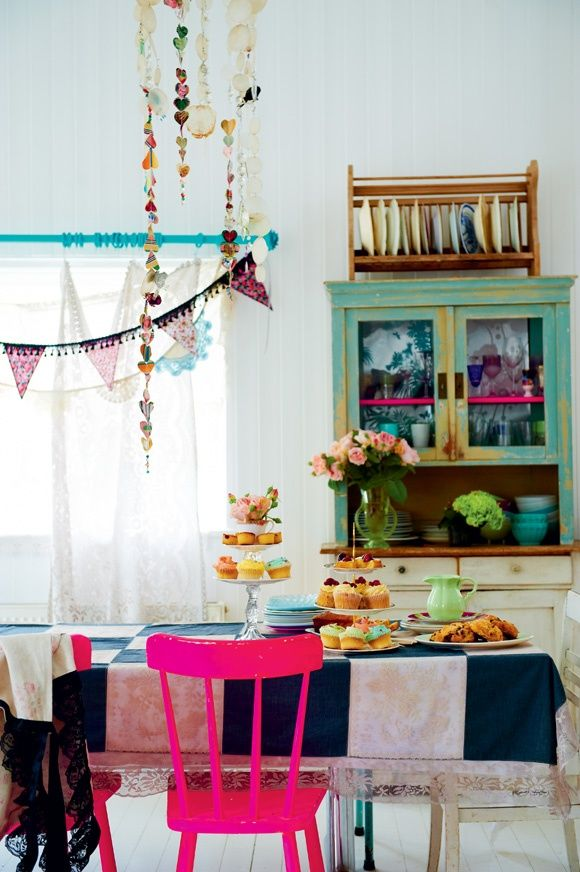 Hippie Kitchen I Love The Mix Match Whimsy And The Colors