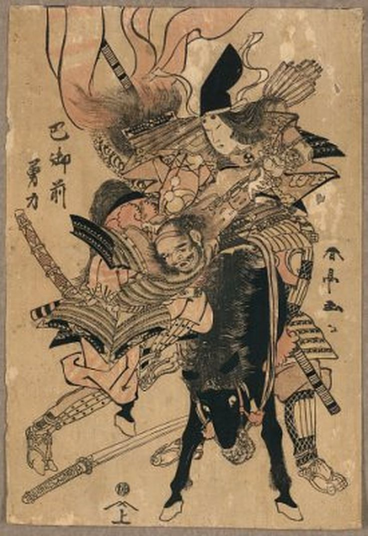 Meet the Samurai Women (onna bugeisha) of Asian History: Tomoe Gozen Defeats Another Warrior