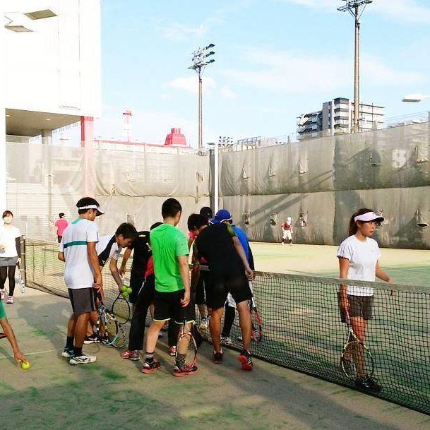 区営テニスコート 錦糸公園でテニスしました。  http://tokyotennis.webcrow.jp #テニスサークル  #テニススクール