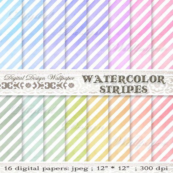 Watercolor Digital PaperWatercolor Digital by DigitalDesignPaper