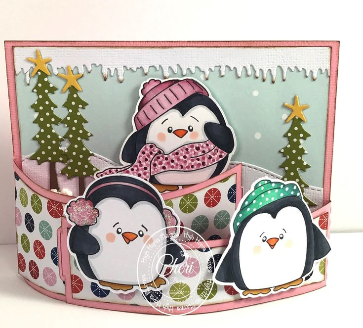 """High Hopes Stamps various """"Penguins"""" by CheriB Designs"""