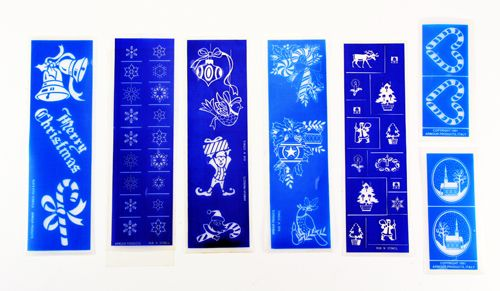 We put together this nice money saving assortment of Christmas glass etching stencils for your holiday gift giving and decorating. Only $3.99 for 7 sheets of Christmas designs! Make your own etched glass ornaments, candle holders, wine glasses, etc. this holiday season. These stencils are exclusively for use with Armour Glass Etching Cream and are only available at www.etchworld.com, Many other assortments to choose from too!
