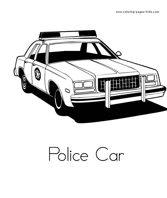 Police Car Coloring Sheet