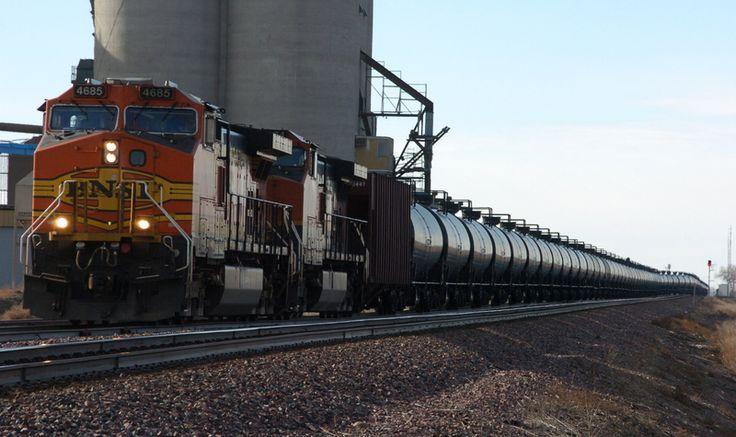 crude oil trailer In this Nov. 6, 2013 photo, a BNSF