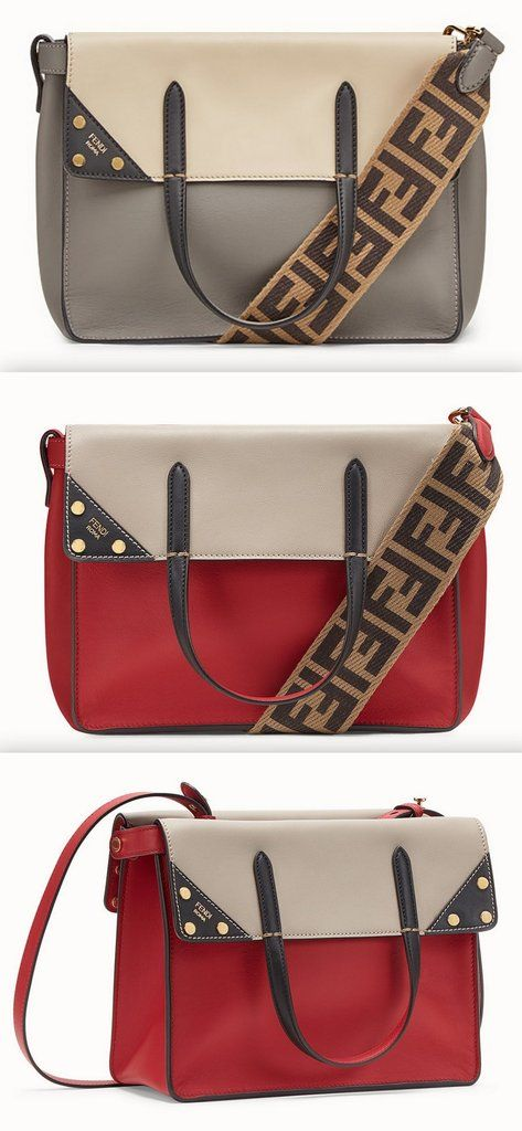 16ceace752d Flip Regular Leather Bag - Grey or Red in 2019 | 2018 NEW DESIGNER ...