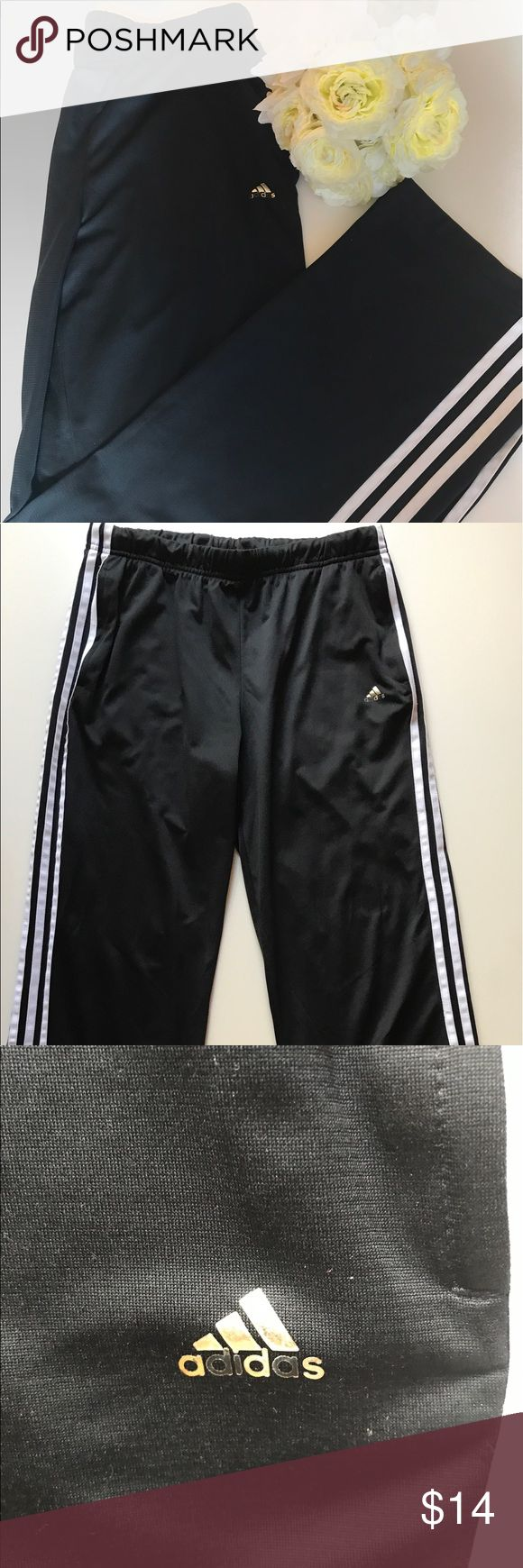 Adidas Sport Women's Training Pants Good conditions! No rips, no stains, clean! A classic Adidas Pants! Black with white stripes adidas Pants Track Pants & Joggers