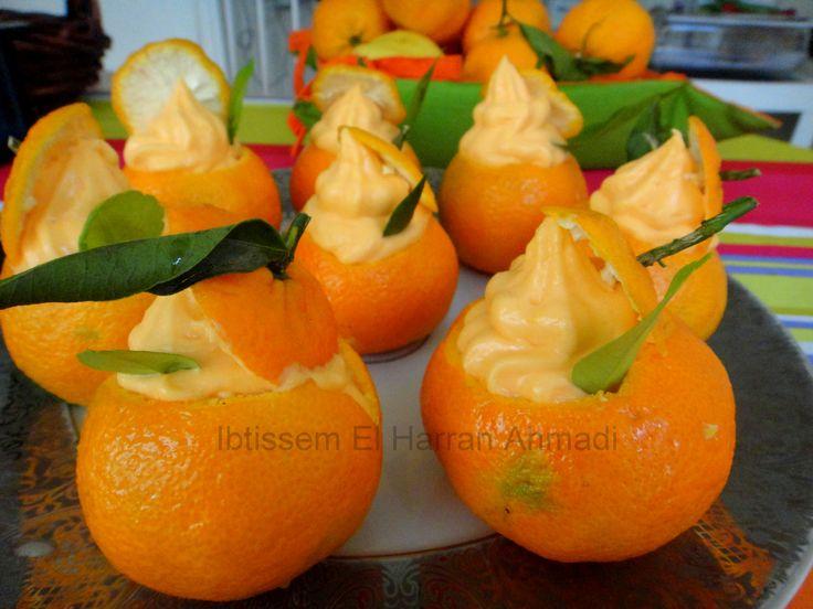 Fleur de Mandarine#dessert#crème pâtissière#crème fraîche#pulpe de mandarine#menu de noël#menu de fête#