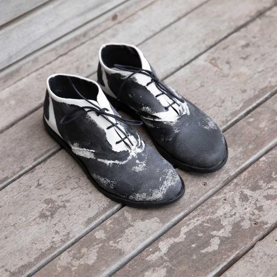 White canvas shoes, Oxford shoes, Vegan