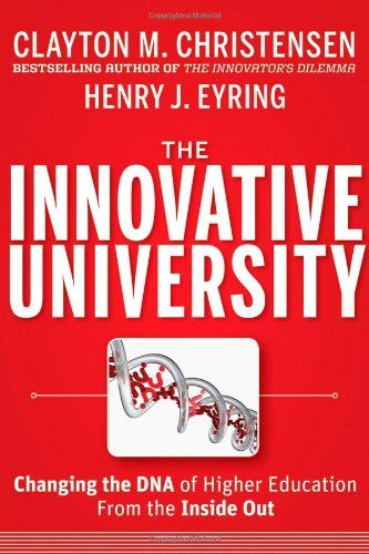 A must for business school faculty interested in educational innovation. In this text Clayton Christensen and Henry Eyring apply disruptive innovation theory to the field of higher education. Thought-provoking!  The Innovative University: Changing the DNA of Higher Education from the Inside Out by Clayton M. Christensen http://www.amazon.ca/dp/1118063481/ref=cm_sw_r_pi_dp_6r8vub19908Z1