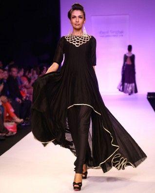 Long Black Evening Dress with Leggings
